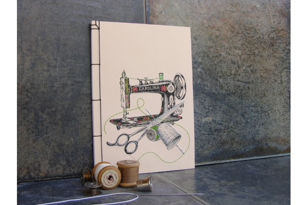 Sewing Machine Journal by Fabulous Cat Papers