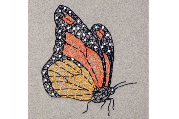 Monarch Butterfly. Embroidered A5 Notebook by Fabulous Cat Papers
