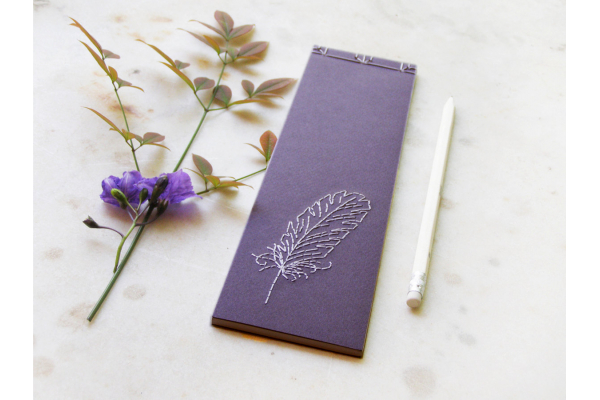 Feather. To Do List Notepad by Fabulous Cat Papers