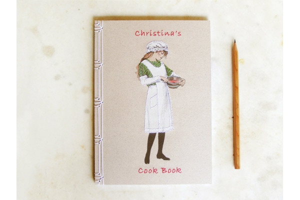 Cute Cooking Girl Notebook by Fabulous Cat Papers