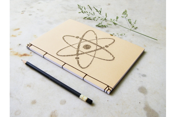 Atom Symbol Notebook by Fabulous Cat Papers