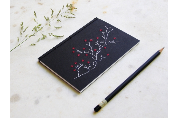 Blooming Branck Notebook by FabulousCatPapers