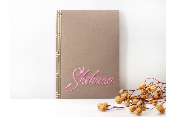 Personalized Name Notebook by Fabulous Cat Papers