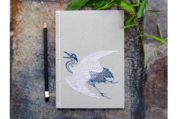 Japanese Crane Notebook by Fabulous Cat Papers