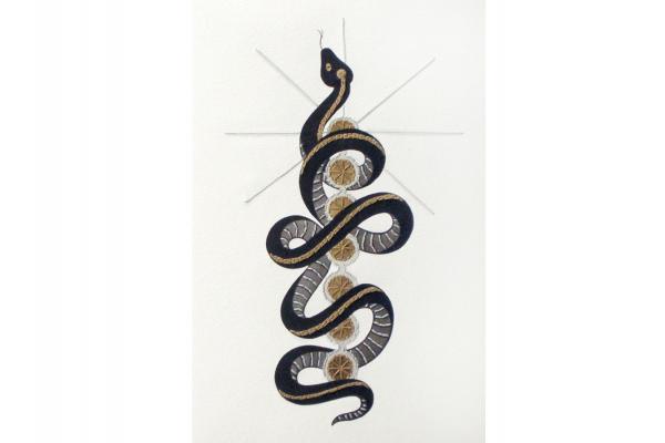 Kundalini Snake. Chakras Journal by Fabulous Cat Papers