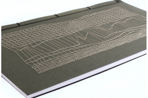 Disturbed Mesh Embroidered Journal by Fabulous Cat Papers