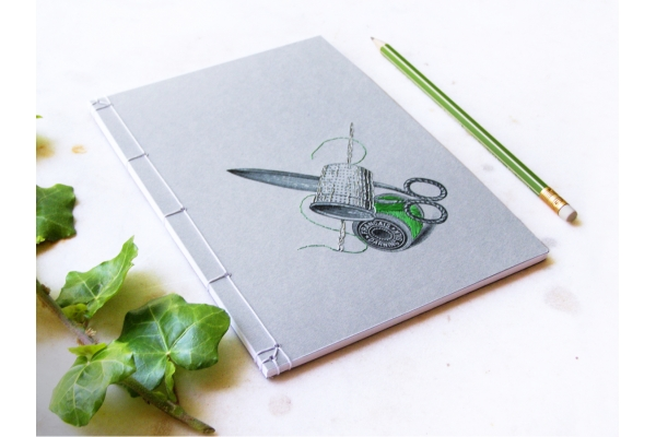 Scissors Thimble and Bobbin Journal by Fabulous Cat Papers