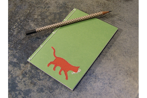 Red Cat Notebook by Fabulous Cat Papers