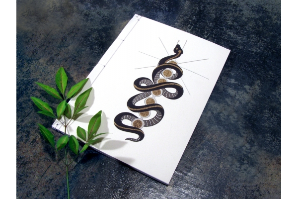 Kundalini Snake. Chakras Journal by Fabulous Cat Papers