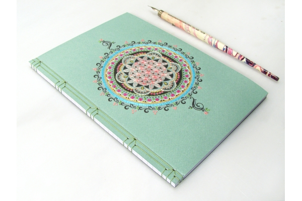Flower of Life Mandala Journal by Fabulous Cat Papers