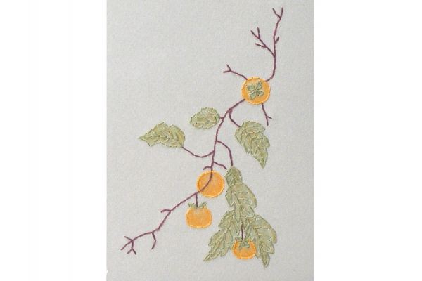 Persimmons Branch. Botanical A6 Notebook by Fabulous Cat Papers