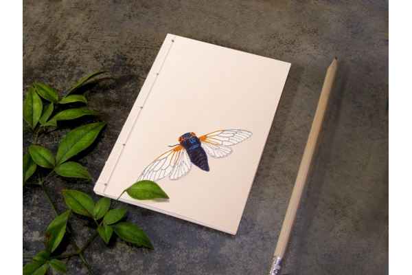 Cicada. A6 Notebook by Fabulous Cat Papers