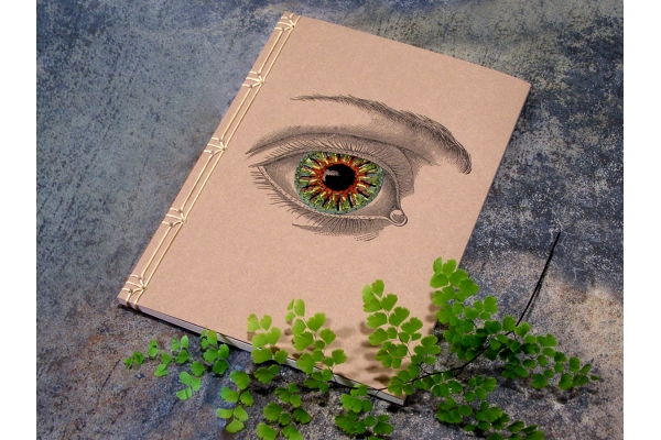 Vintage Eye Journal by Fabulous Cat Papers