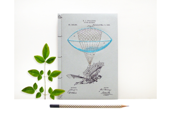 Flying Machine Journal by Fabulous Cat Papers