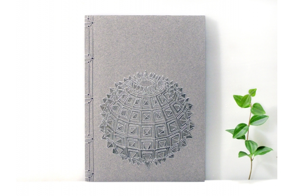 Sacred Geometry, Embroidered Journal by Fabulous Cat Papers