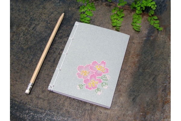 Almond Flowers. Small Floral Notebook by Fabulous Cat Papers
