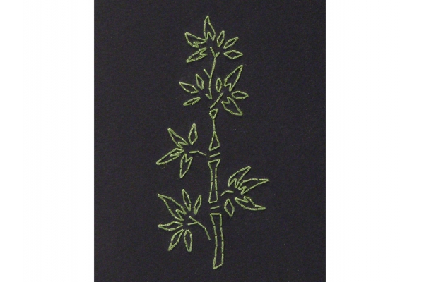 Bamboo. Black A6 Notebook by Fabulous Cat Papers