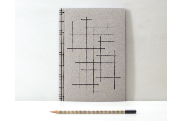 Crossing Lines Notebook by Fabulous Cat Papers