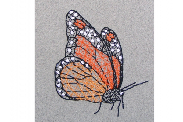 Monarch Butterfly. Small A6 Notebook