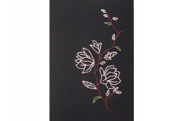 agnolia on Black. Detail