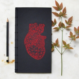 Red Heart Anatomy Journal by Fabulous Cat Papers