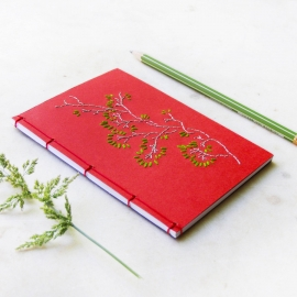 Spring Branch. Red Small Notebook by Fabulous Cat Papers