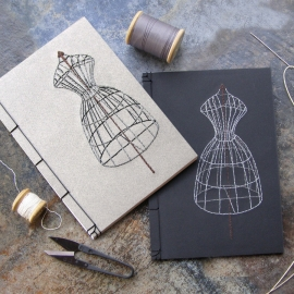 Sewing Mannequin Journals by Fabulous Cat Papers