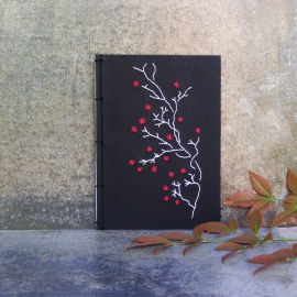Blooming Branch. Black Small Notebook