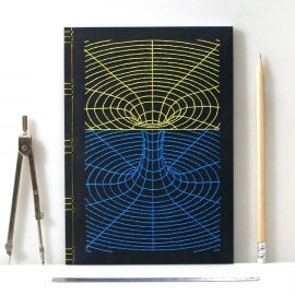 Black Hole. Embroidered Journal by Fabulous Cat Papers