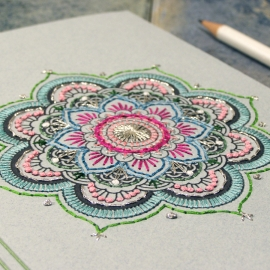 Mint Mandala Journal by Fabulous Cat Papers