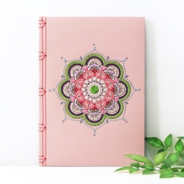 Pink Mandala Journal by Fabulous Cat Papers