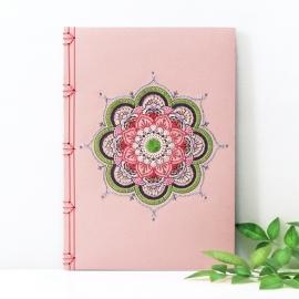 Pink Mandala Journal by Fabulous Cat Papers