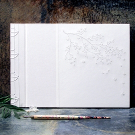 Cherry Blossoms. Wedding Guest Book by Fabulous Cat Papers