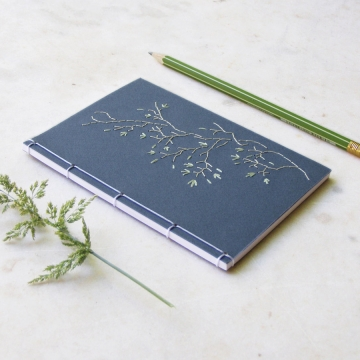 Tree Branch. Blue A6 notebook