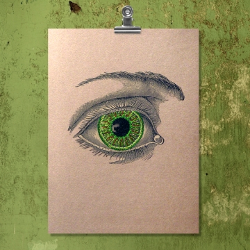 Vintage Eye. Paper Embroidery