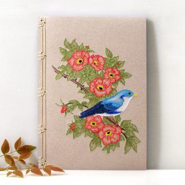 Blue Bird on Wild Roses Journal