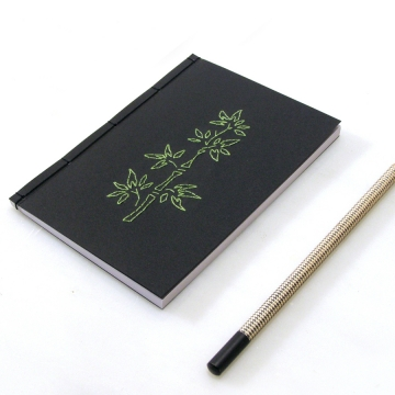 Bamboo. Black A6 Notebook