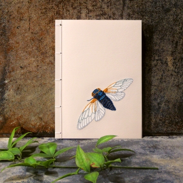 Cicada. Small A6 Notebook