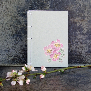 Almond Flowers. Small Floral Notebook.