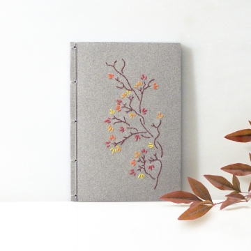 Autumn Branch. Gray Small Notebook