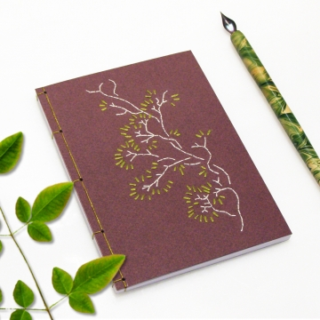 Tree Branch. Burgundy Small Notebook